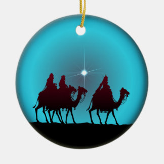 3 WISEMEN & STAR by SHARON SHARPE Ceramic Ornament