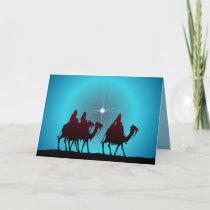 3 WISEMEN & STAR by SHARON SHARPE Holiday Card