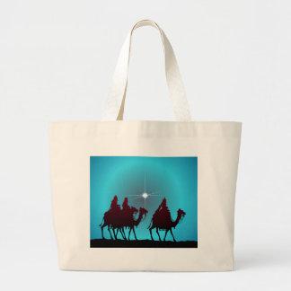 3 WISEMEN & STAR by SHARON SHARPE Large Tote Bag