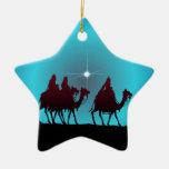 3 WISEMEN & STAR by SHARON SHARPE Ornaments