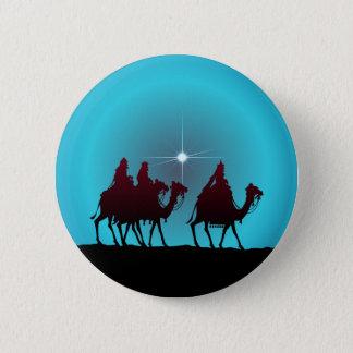 3 WISEMEN & STAR by SHARON SHARPE Pinback Button