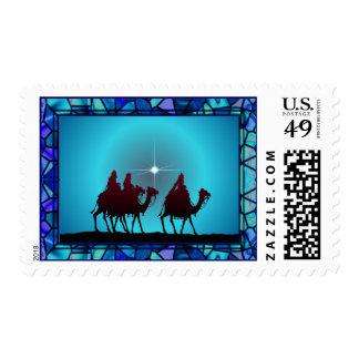 3 WISEMEN & STAR by SHARON SHARPE Postage Stamp