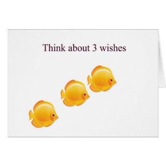 3 wishes card
