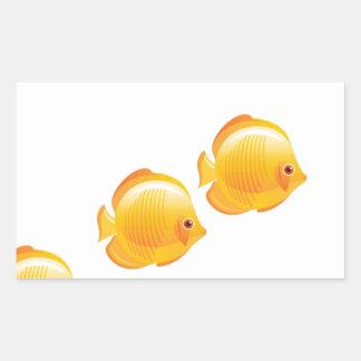 3 wishes rectangular sticker