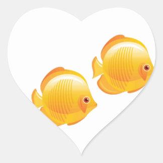 3 wishes heart sticker