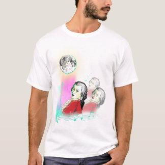 3 Wolfgang Amadeus Mozarts and Moon T-Shirt