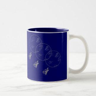 3 Wolves, 3 Moons! Two-Tone Coffee Mug