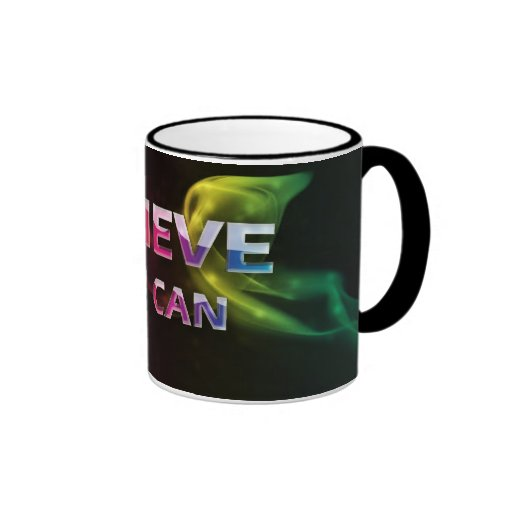 3 Word Quote~Believe You Can~Motivational  Mug