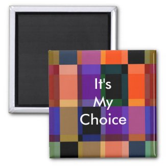 3 Word Quote It's My Choice Motivational Magnet magnet
