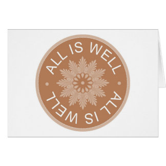 3 Word Quotes ~All Is Well ~Inspirational Cards