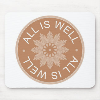 3 Word Quotes All Is Well Inspirational Mousepad