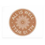 3 Word Quotes ~All Is Well ~Inspirational Post Cards