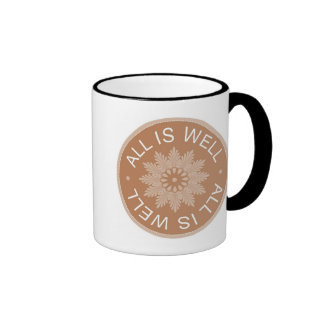 3 Word Quotes ~All Is Well ~Inspirational Ringer Mug