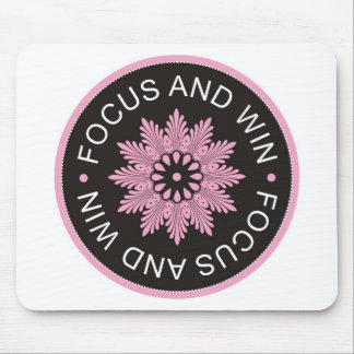 3 Word Quotes ~Focus And Win ~motivational Mouse Pad