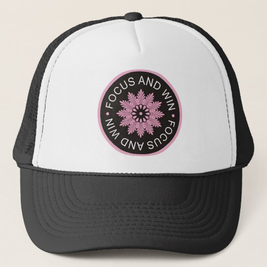 3 Word Quotes ~Focus And Win ~motivational Trucker Hat