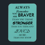 """3&quot;x4&quot; Encouraging Quote Magnet<br><div class=""""desc"""">A loving sentiment to encourage and brighten anyone&#39;s day listed on a magnet. To put on the fridge or bulletin board to be seen everyday.</div>"""