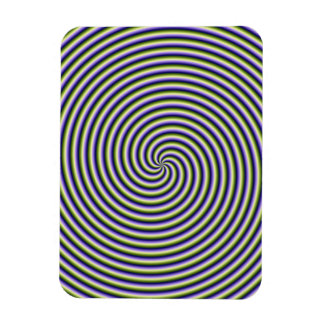 """3""""x4"""" Photo Magnet  Swirl in Green Blue and Violet"""