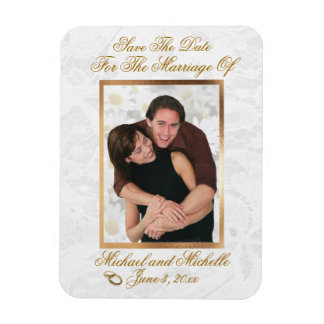 "3""x4"" Wedding Save The Date Photo Magnet"