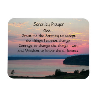 3 x 4 Serenity Prayer Pink Seascape Magnet