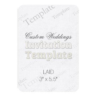 "3"" x 5.5"" Laid Custom Wedding Invitation Round"
