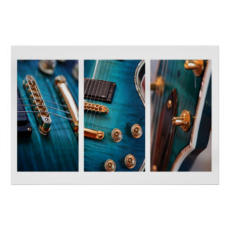 3 x guitars posters