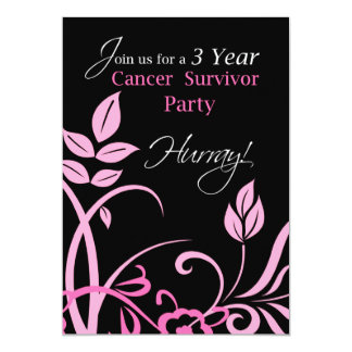 3 Year Breast Cancer Survivor Party Invitation