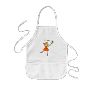3 year old ballerina kids' apron