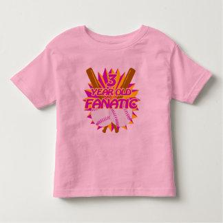 3 Year Old Baseball Fanatic Toddler T-shirt