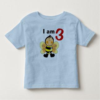3 year old birthday boy/girl gift (bumble bee) toddler t-shirt