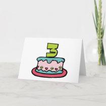 Year Old Birthday Cake cards by Birthday_Bash