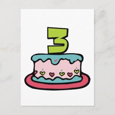 Year Old Birthday Cake Post Card by Birthday_Bash