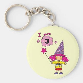 3 year old magician girl keychain