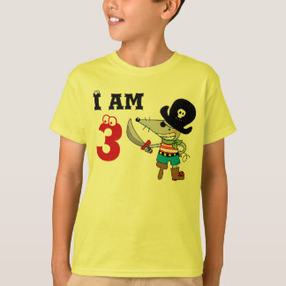 3 year old pirate birthday boy tshirt