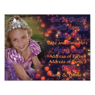 3 year old birthday invitations announcements zazzle 3 year old princess birthday invites with back stopboris Choice Image