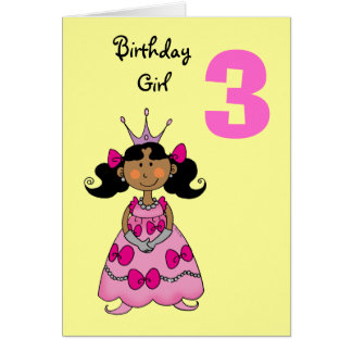 3 Year Old Girl Greeting Cards Zazzle