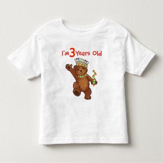 3 Year Old Royal Bear Birthday Toddler T-shirt