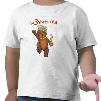 3 Year Old Royal Bear Birthday T Shirt