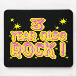 3 Year Olds Rock! (Pink) Mousepad