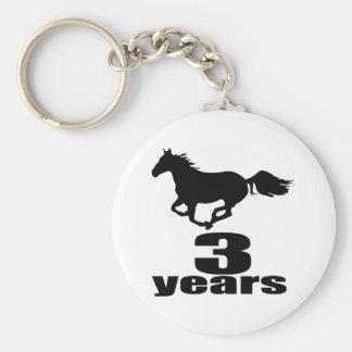 3 years Birthday Designs Keychain