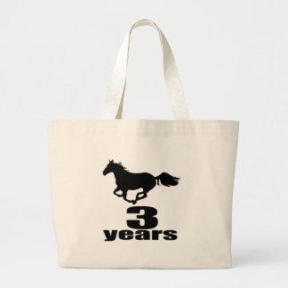 3 years Birthday Designs Large Tote Bag