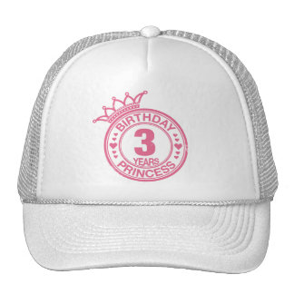 3 years - Birthday Princess - pink Trucker Hat