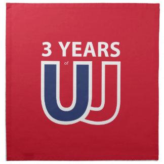 3 Years of Union Jack Napkin
