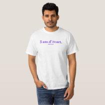 3 YEARS OF VARIATION - WHITE TEE-SHIRT - NAME & T-Shirt
