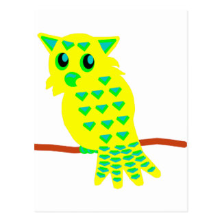 3-Yellow Owl Postcard