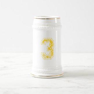 #3 Yellow Varsity Beer Stein