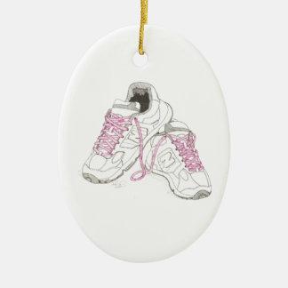 3 zapatos para andar del día ornamento para arbol de navidad