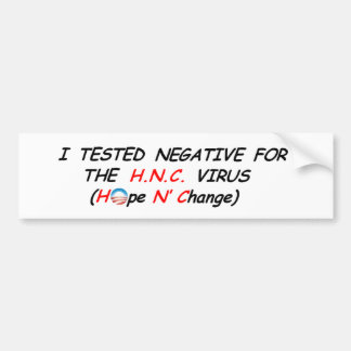 3a.Beware the H.N.C. Virus!! Bumper Stickers