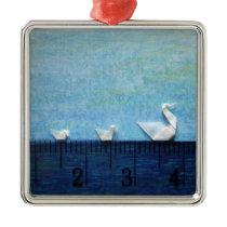 3cm Family Swim Metal Ornament