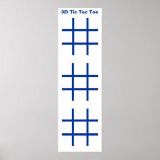 3D (3x3x3) Tic Tac Toe Grid (Fridge Magnets) Poster