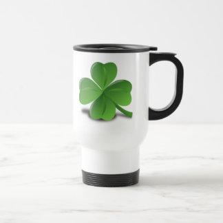 3D 4 Leaf Clover Coffee Mug